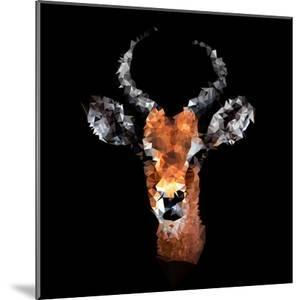 Low Poly Safari Art - The Look of Antelope - Black Edition by Philippe Hugonnard