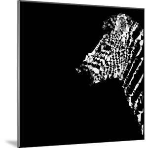Low Poly Safari Art - The Zebra - Black Edition by Philippe Hugonnard