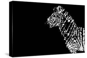 Low Poly Safari Art - Zebra - Black Edition by Philippe Hugonnard