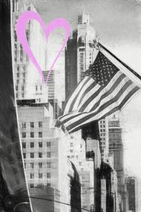 Luv Collection - New York City - American Flag by Philippe Hugonnard