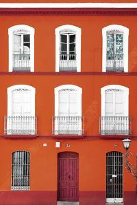 Made in Spain Collection - Orange Facade of Traditional Spanish Building by Philippe Hugonnard
