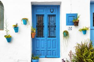 Made in Spain Collection - White Facade and Light Blue Door by Philippe Hugonnard