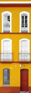 Made in Spain Slim Collection - Orange Facade of Traditional Spanish Building by Philippe Hugonnard