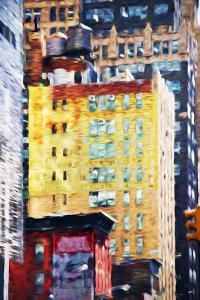 Manhattan Architecture II - In the Style of Oil Painting by Philippe Hugonnard
