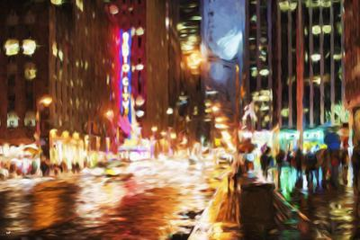 Manhattan Night II - In the Style of Oil Painting by Philippe Hugonnard