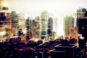 Manhattan Shine - Fog on Times Square by Philippe Hugonnard