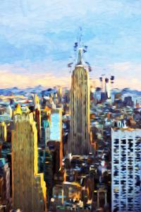 Manhattan Skyline - In the Style of Oil Painting by Philippe Hugonnard