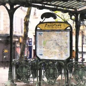 Metro Paris Abbesses by Philippe Hugonnard