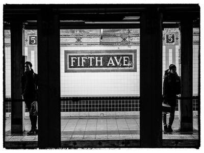 Moment of Life in NYC Subway Station to the Fifth Avenue - Manhattan - New York