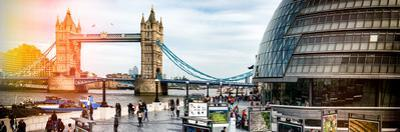 Moment of Life to City Hall with Tower Bridge - City of London - UK - England - United Kingdom by Philippe Hugonnard
