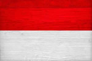 Monaco Flag Design with Wood Patterning - Flags of the World Series by Philippe Hugonnard