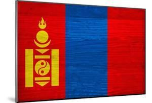 Mongolia Flag Design with Wood Patterning - Flags of the World Series by Philippe Hugonnard