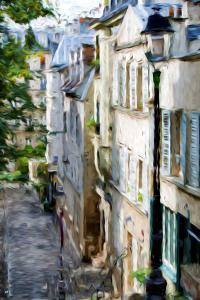Montmartre Street II - In the Style of Oil Painting by Philippe Hugonnard