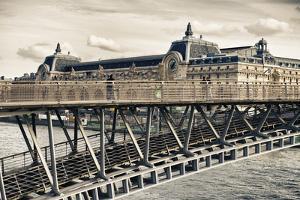 Musee d'Orsay - Solferino Bridge view - Paris - France by Philippe Hugonnard
