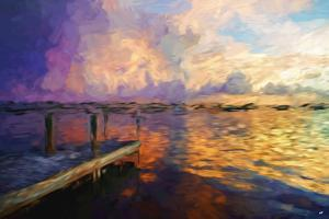Mysterious Sunset II - In the Style of Oil Painting by Philippe Hugonnard