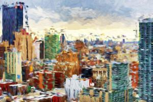 New York City - In the Style of Oil Painting by Philippe Hugonnard