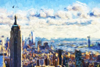 New York Skyline VI - In the Style of Oil Painting by Philippe Hugonnard