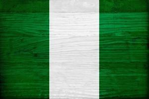 Nigeria Flag Design with Wood Patterning - Flags of the World Series by Philippe Hugonnard