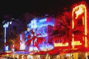 Night Ocean Drive III - In the Style of Oil Painting by Philippe Hugonnard