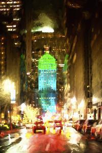 Night Traffic on Park Avenue by Philippe Hugonnard