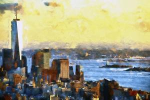 NYC Fiery Sunset II by Philippe Hugonnard