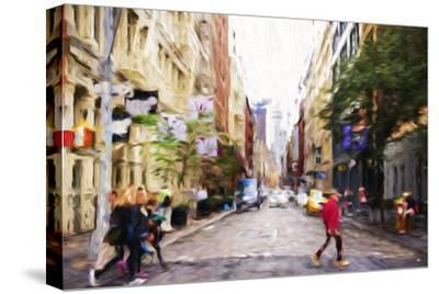 NYC Shopping - In the Style of Oil Painting
