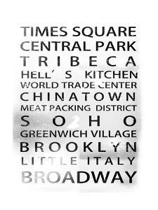 NYC Signs - New York Districts - Manhattan, New York City, USA by Philippe Hugonnard