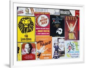 NYC Street Art - Patchwork of Old Posters of Broadway Musicals - Times Square - Manhattan by Philippe Hugonnard