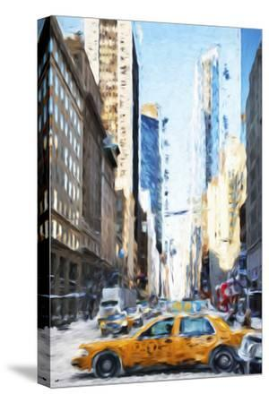 NYC Taxi - In the Style of Oil Painting