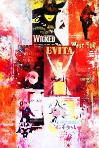 NYC Watercolor Collection - Broadway Shows II by Philippe Hugonnard