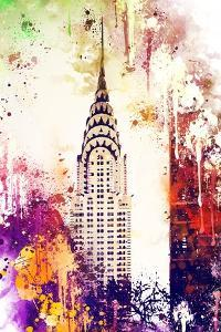NYC Watercolor Collection - Chrysler Building by Philippe Hugonnard