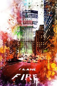 NYC Watercolor Collection - Fire Lane by Philippe Hugonnard