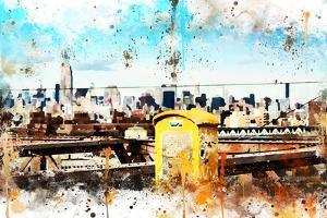 NYC Watercolor Collection - Letter Box by Philippe Hugonnard