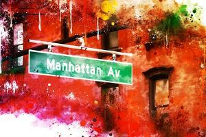 NYC Watercolor Collection - Manhattan Avenue by Philippe Hugonnard