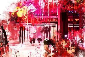 NYC Watercolor Collection - NBC Studios by Philippe Hugonnard