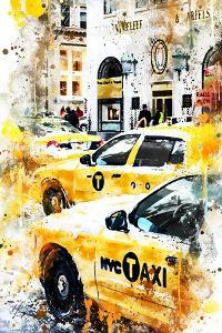 NYC Watercolor Collection - New York Taxis by Philippe Hugonnard