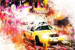 NYC Watercolor Collection - On the Night Road by Philippe Hugonnard