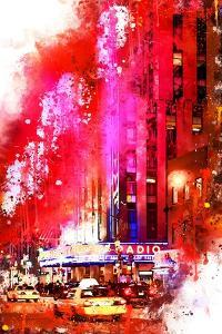 NYC Watercolor Collection - Radio City Music Hall by Philippe Hugonnard