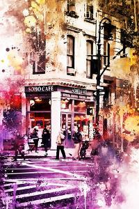NYC Watercolor Collection - Soho Cafe by Philippe Hugonnard