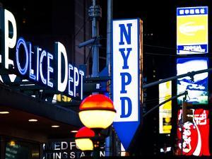 Nypd Police Dept, Times Square, Manhattan, New York City, USA by Philippe Hugonnard