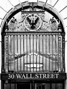 Nysc 30 Wall Street Building, Financial District, Manhattan, NYC, USA, Black and White Photography by Philippe Hugonnard
