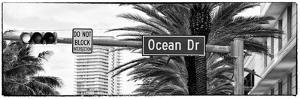 Ocean Drive Sign - Miami Beach - Florida - USA by Philippe Hugonnard