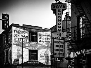 Old Shops and Stores in Philadelphia, Pennsylvania, United States, Black and White Photography by Philippe Hugonnard
