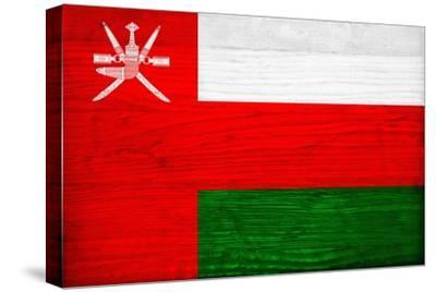 Oman Flag Design with Wood Patterning - Flags of the World Series