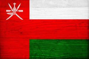 Oman Flag Design with Wood Patterning - Flags of the World Series by Philippe Hugonnard