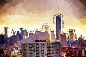One World Trade Center - In the Style of Oil Painting by Philippe Hugonnard