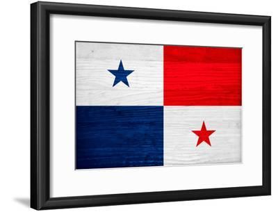 Panama Flag Design with Wood Patterning - Flags of the World Series