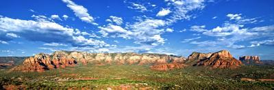 Panoramic Landscape - Thunder Mountains - Sedona - Arizona - United States by Philippe Hugonnard