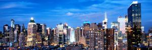Panoramic Landscape View of Times Square, Skyscrapers View, Midtown Manhattan, NYC, NYC, US, USA by Philippe Hugonnard