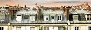 Panoramic Rooftops View, Sacre-Cœur Basilica, Paris, France by Philippe Hugonnard